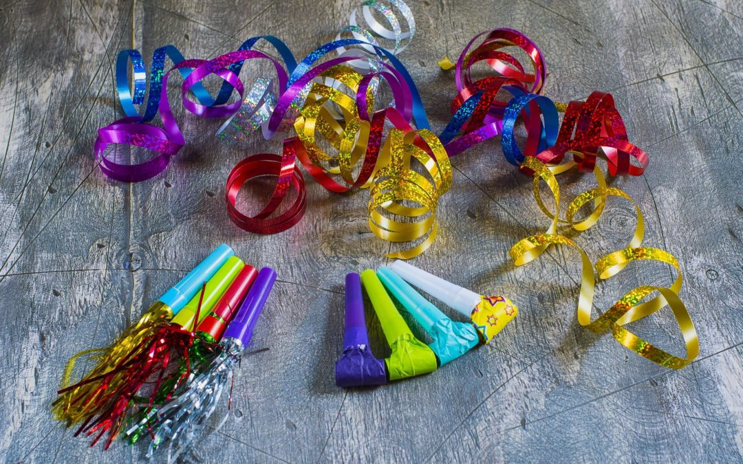 Multiple color new year's party favors